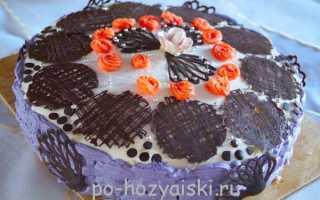 Бисквитный торт с кремом из маскарпоне
