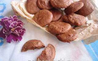 Шоколадное печенье на белках