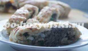 Ароматный грибной пирог на дрожжевом тесте с сыром