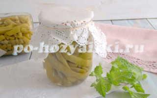 Маринованная стручковая фасоль на зиму для супов и салатов