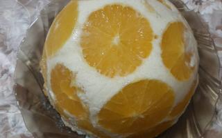Торт «Бланманже» с апельсинами