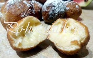Как приготовить шарики из теста во фритюре с сыром