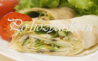 Рулет из лаваша с картофельной начинкой — рецепты с фото