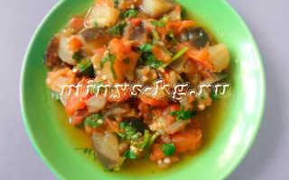 Тушеные баклажаны с помидорами и чесноком — вкусный диетический рецепт