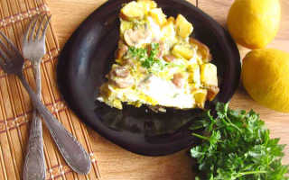 Испанский омлет тортилья с картофелем и грибами