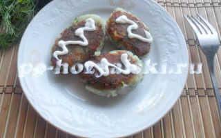 Картофельные котлеты из пюре с хрустящей корочкой