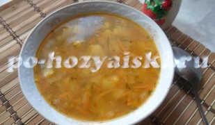 Постный суп из консервированной фасоли в томатном соусе