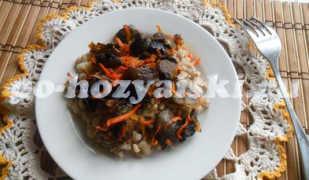 Перловка с грибами, диетическое блюдо на обед