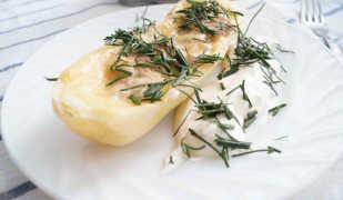 Диетический картофель с сыром и грибами: рецепт с фото