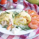 Рулетики из кабачков с курицей: вкусное диетическое блюдо