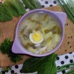 суп с щавелем и яйцом