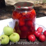 компот из алычи и яблок