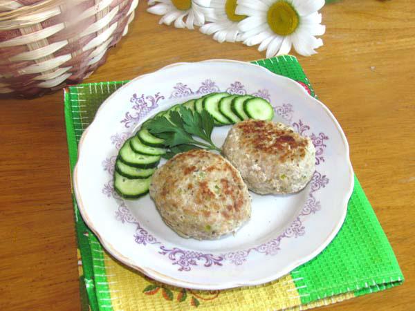 мясные котлеты с кабачками