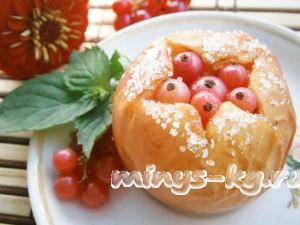запеченные яблоки с творогом и медом