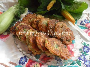 оладьи из кабачков без яиц
