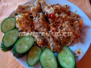 рис с курицей в микроволновке