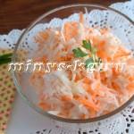 Зимний салат из корня сельдерея с редькой и морковью