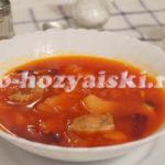 борщ с фасолью пошаговый рецепт с фото