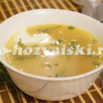гороховый суп на курином бульоне