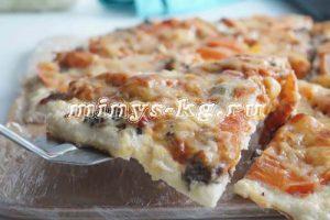куриная пицца без теста