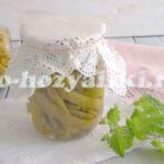 маринованная стручковая фасоль