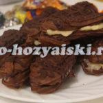 Шоколадное заварное пирожное