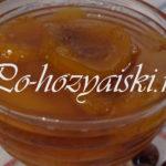 варенье из персиков на зиму, простой рецепт