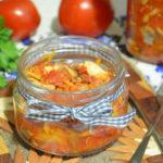 салат со скумбрией на зиму